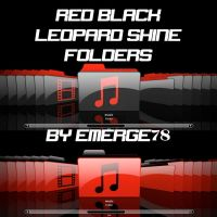 RED AND BLACK SHINE FOLDERS by emerge78