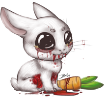 Do not scare the bunny! by Bluefirewings