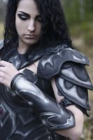 female leather armor by vofffka