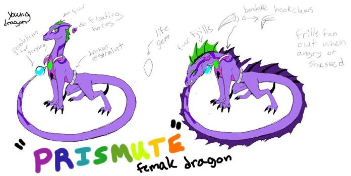 Prismute The Dragoness (a gift from a friend) by Gamerdragon1992