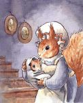 Squirrel and Baby by KelliRoos