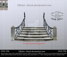 Stairs with squiggled handrail by YBsilon-Stock by YBsilon-Stock