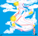 Abstract Cloud Lady by DeviantLilGirl