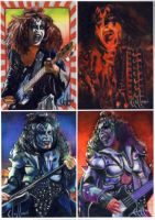 Kiss Gene Simmons sketch cards by choffman36