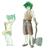 Grass Gijinka by xIce-Wolf
