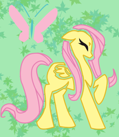 Fluttershy Silohuette by TheyCallMeRoxas