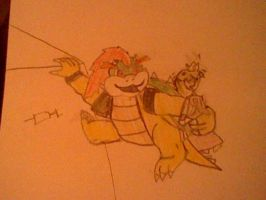 bowser and princess peach by MARTiNblaZe