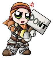Aveline Chibi by RedPawDesigns