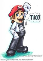 Mike Tyson's Punch-Out!! Referee Mario by LemiaCrescent
