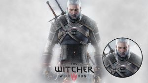 The Witcher 3 - Geralt of Rivia - Simple by b4ttery