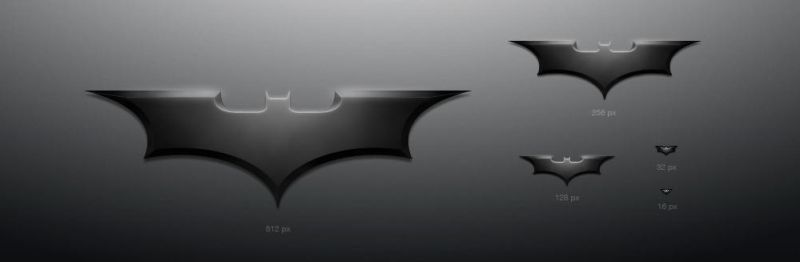 Batman's shuriken icon by averto