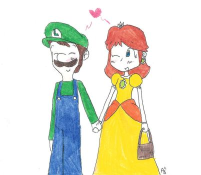 Luigi and Daisy by AnneKMT123