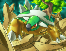 Torterra's Earthquake by Orangetavi