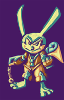 Keyblade Master Oswald the Lucky Rabbit by Ginny-N
