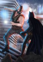 Bane vs Batman by Lightning-Stroke