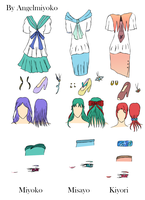 .::School Uniform Designs::. by AngelMiyoko