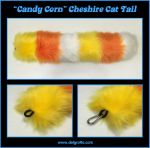 Candy Corn Cheshire Cat Tail by delgrotto