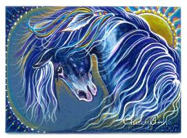 ACEO Blue Sun by ChaeyAhne