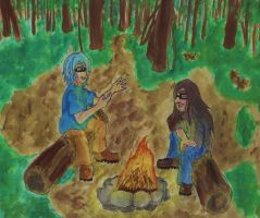 story by the campfire by Katieroses
