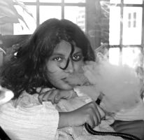 shisha smoke girl by Sociopart