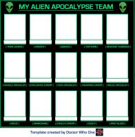 My Alien Apocalypse Team [Template] by DoctorWhoOne