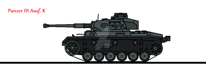 Panzer III Ausf. K by thesketchydude13