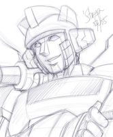 Wheeljack Minus The Mask by straya