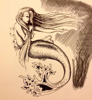 Mermaid doodle  by LittleLeviathan