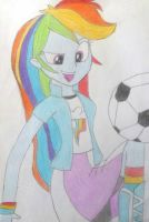 Equestria Girls Rainbow Dash by Bass-Senpai