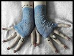 Ailis Lace Fingerless Gloves by ZenAndCoffee