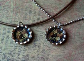 w00t beer bottle cap necklace by OcularFracture