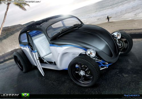Fusca Hot Rod - full brush - by Johnny-Designer