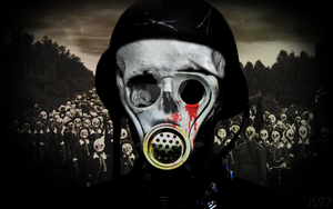 Gas mask Zombie by JS92