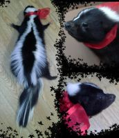 Christmas Skunk for sale by BlakKatKreations