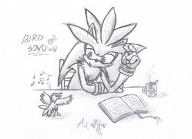 Bird Song - sketch by AR-ameth