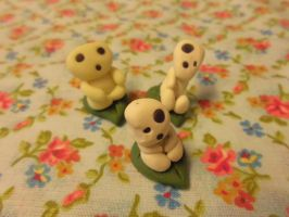Kodama Figurines by Lord-Ackbar
