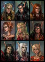 Blood Elves by artastrophe