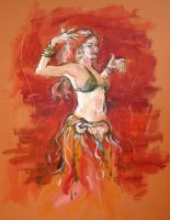 Red Dancer by ChristineAltese