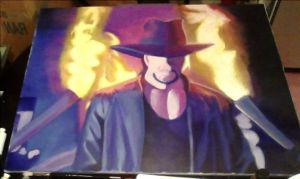 Painting - The Undertaker by Azuroru