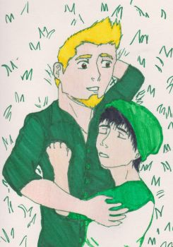 Laying in Green by ComiCWolf16