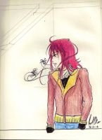 Kurama with jacket by The-Insomiac-Artist