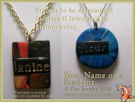 Your Name On A Pendant by K-Gee-Jewelry