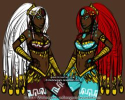 Chara design: Gerudo twins by Webmegami