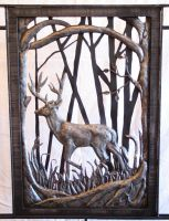 detail deer railing by artistladysmith