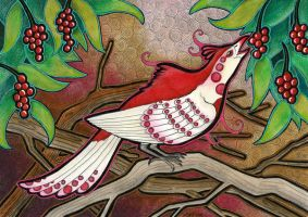 Rose Red Phoenix Pheasant by Ravenari