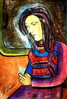 Woman On Bus finger games by jedsart
