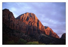 Sunset at Zion Canyon by jmm