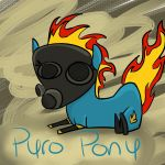 Meet the Pyro - Blue Pony by Genis-Sage99