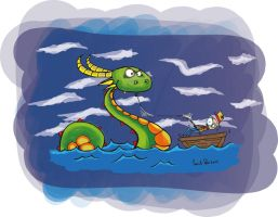 Monster Of Loch Ness by farukpolo
