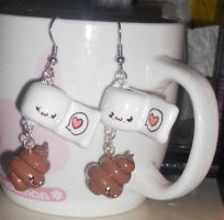 Poo and TP Earrings by Love-Who